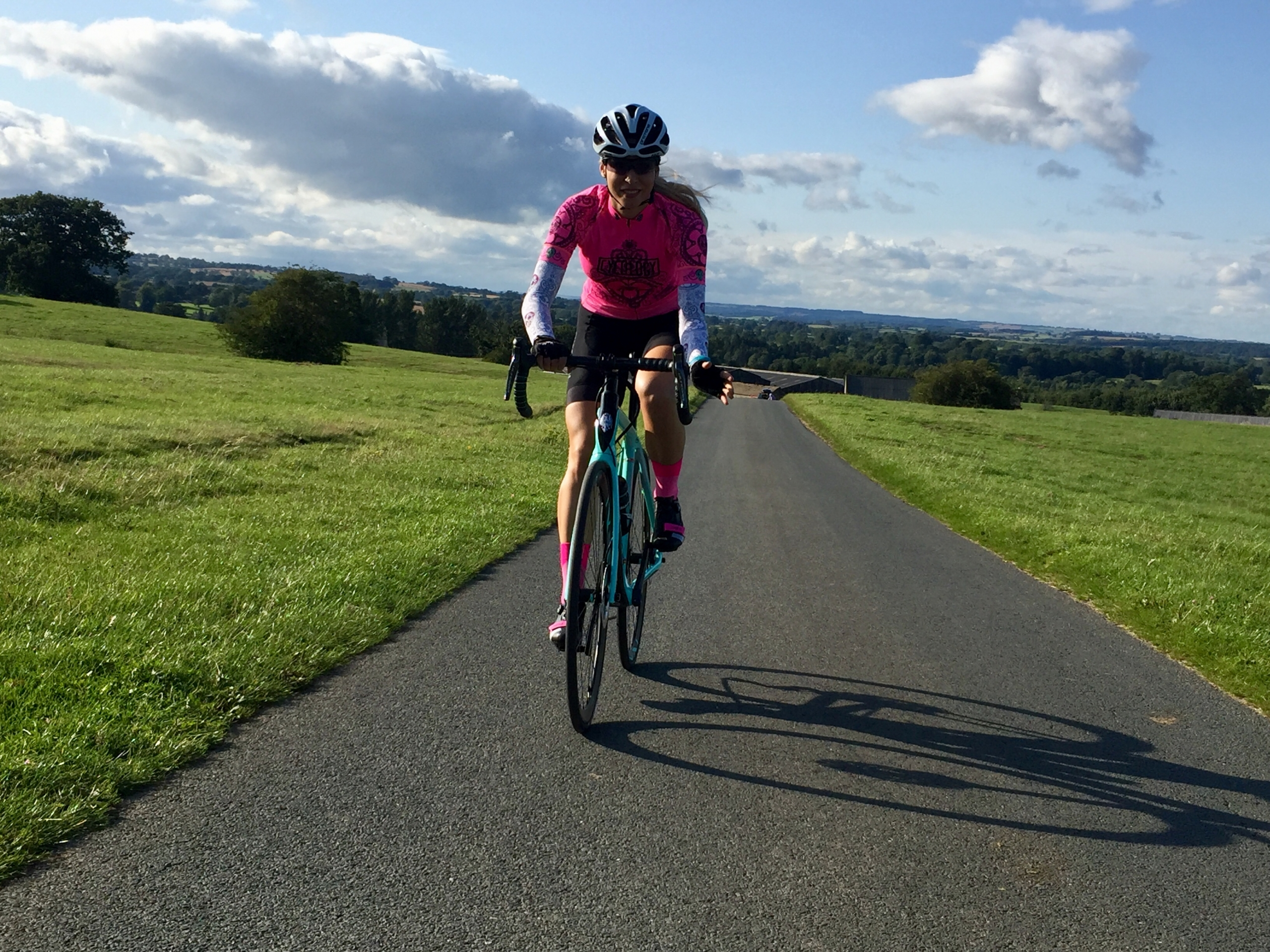 Larisa Chinces riding near Masham