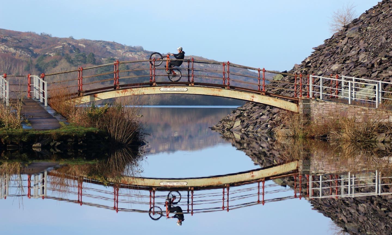 Jack Carthy wheelie in Wales